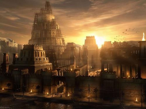 Вавилон в заходящем солнце