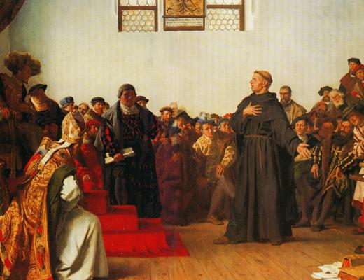 протестантская реформация. Мартин Лютер перед сеймом в Вормсе