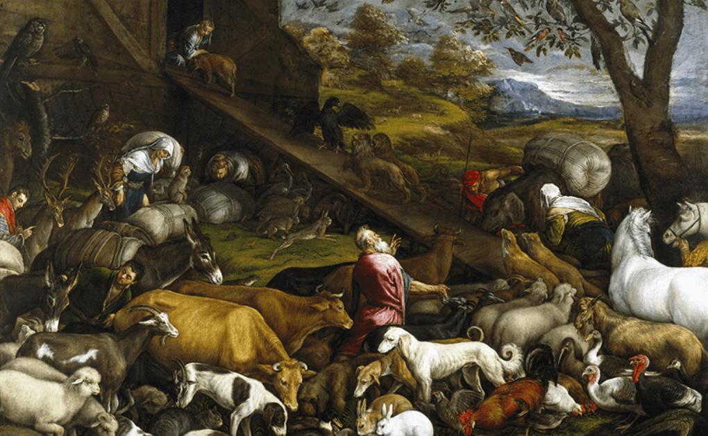 Вход зверей в ковчег перед Потопом
