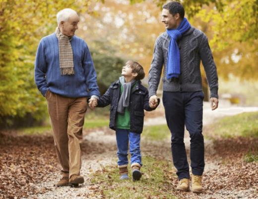 отец, сын и внук. Поколения