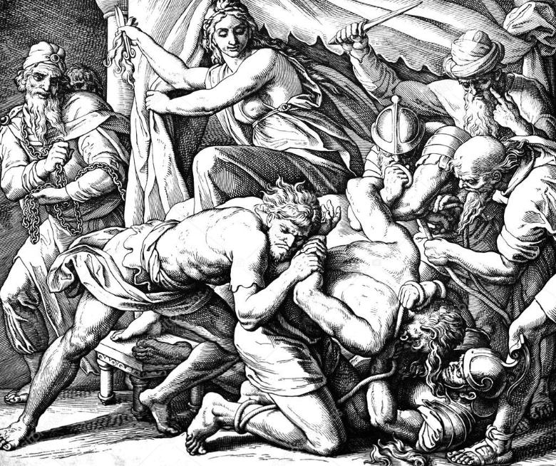 Самсон Далида и филистимляне