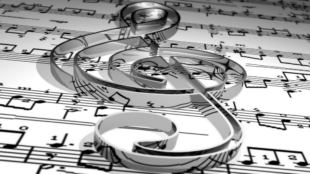 музыка любви. Ноты. скрипичный ключ
