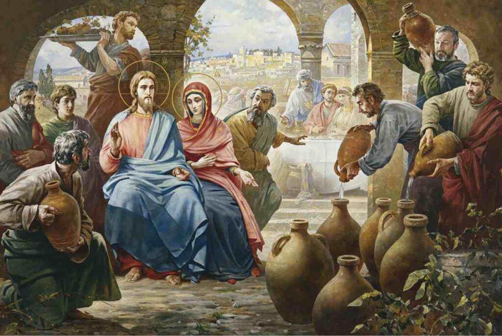 Иисус на браке в Кане галилейской